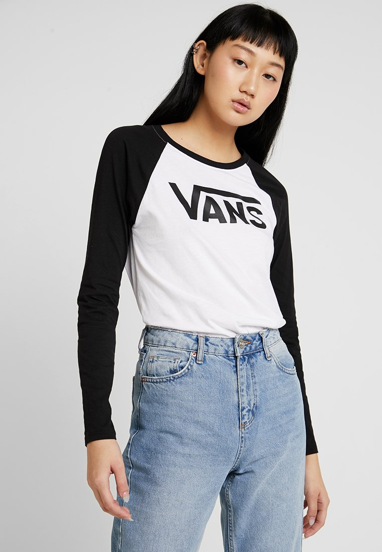 Vans - Long sleeved top - white/black