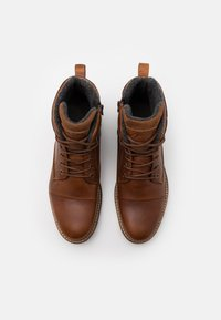 Pier One - Lace-up ankle boots - cognac - 3