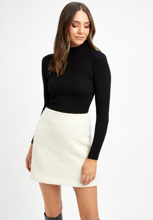 JUPE MINI ANNABELLE - A-line skirt - white/blanc