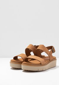 Timberland - SAFARI DAWN 2BAND - Platform sandals - rust - 4