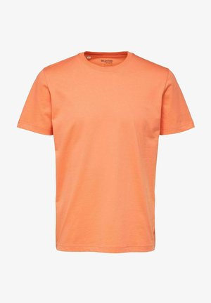 SLHNORMAN O NECK TEE - T-shirt basic - coral quartz