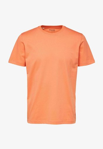 SLHNORMAN O NECK TEE - Basic T-shirt - coral quartz