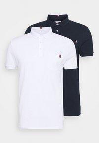 Pier One - 2 PACK - Poloshirt - dark blue/white - 7