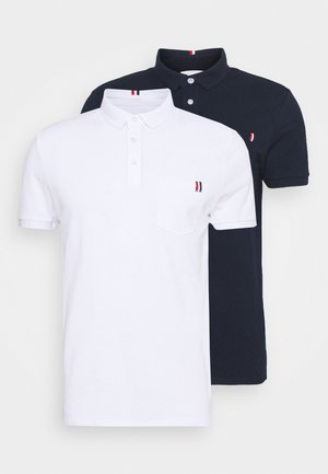 2 PACK - Polo shirt - dark blue/white
