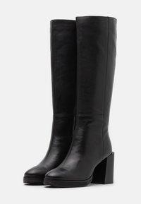 ASRA - KINGDOM - Boots med høye hæler - black - 2