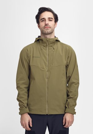 Soft shell jacket - olive