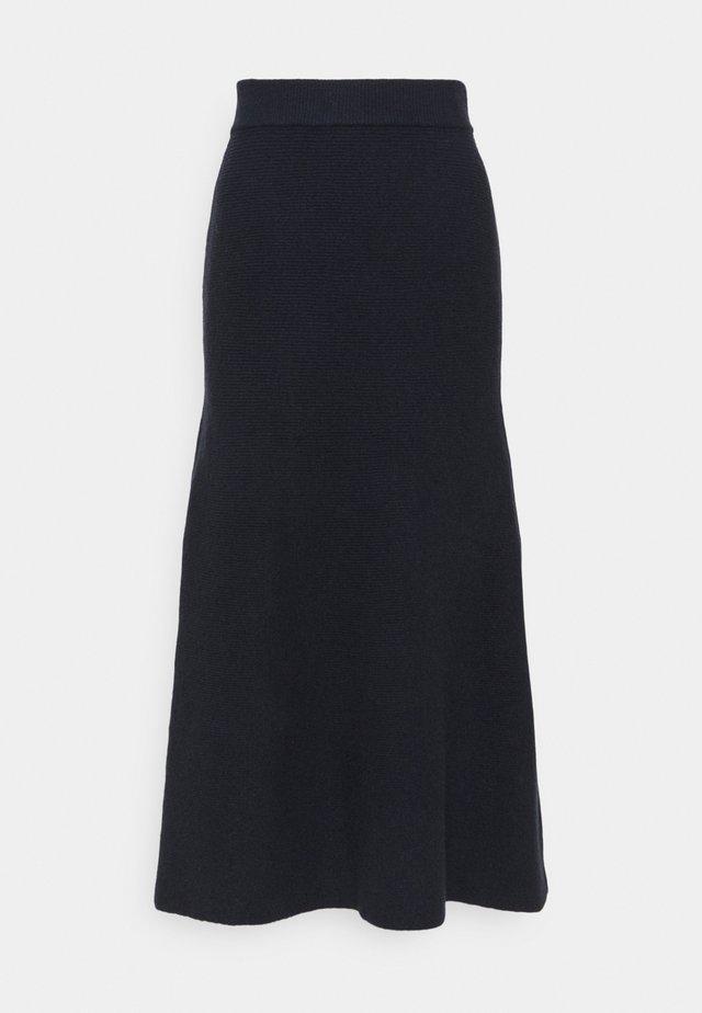 SKIRT - Maxi sukně - slate blue