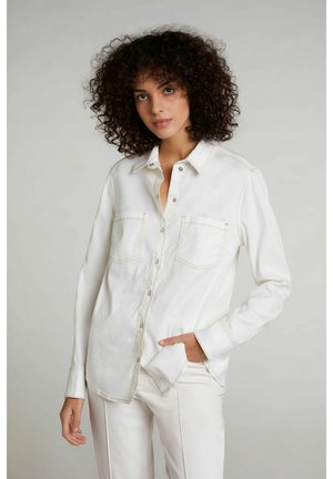 Button-down blouse - white swan