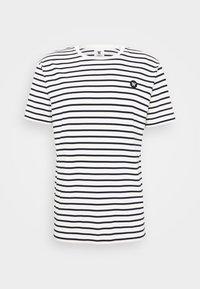 ACE - T-shirt med print - off-white/navy