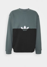 adidas Originals - SLICE CREW - Sweatshirt - black/blue oxide - 0