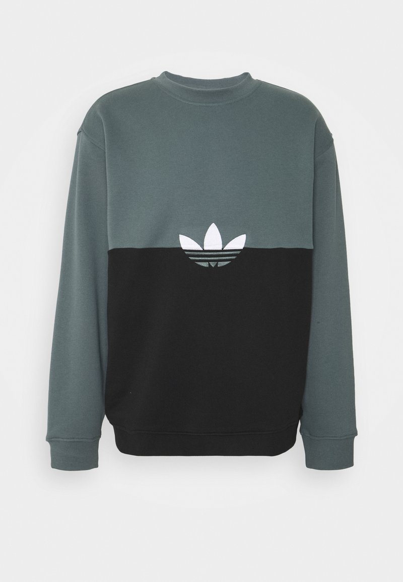 adidas Originals - SLICE CREW - Sweatshirt - black/blue oxide