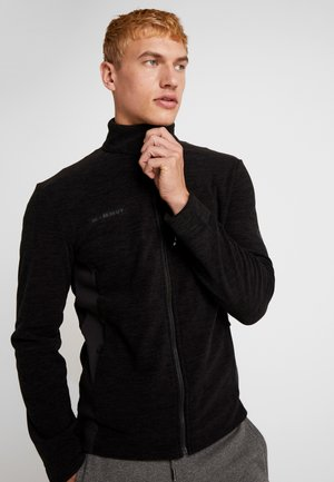 YADKIN - Fleece jacket - black mélange/black