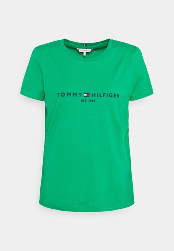 REGULAR HILFIGER TEE  - T-shirts - primary green
