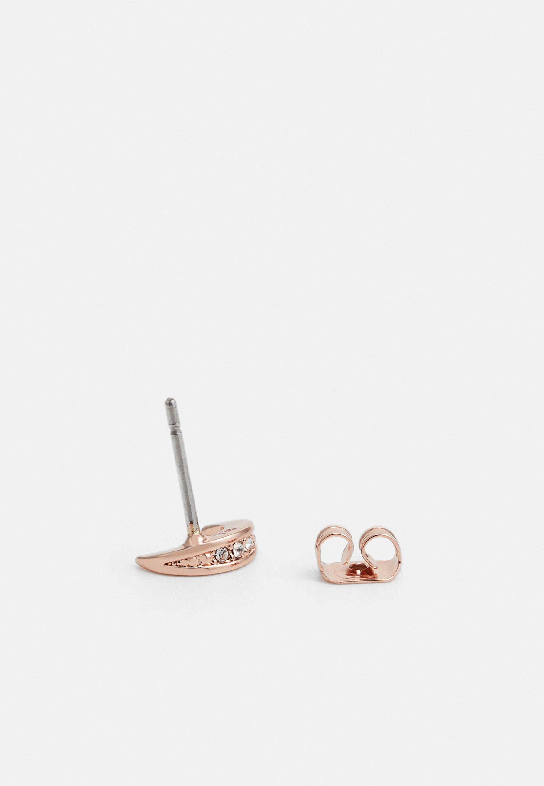 Ted Baker Marlyy Crescent Moon Stud Earring - Ohrringe Rose Gold-coloured/crystal/roségoldfarben
