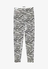 Tezenis - GLÄNZENDE - Leggings - Trousers - bianco st.zebra - 4