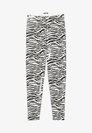 GLÄNZENDE - Leggings - bianco st.zebra