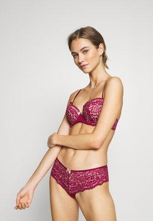 Underwired bra - deep cherry berry