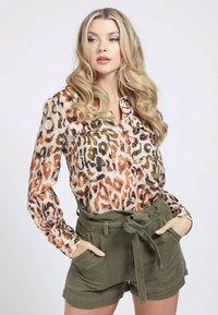 Guess - MONA - Button-down blouse - mehrfarbig braun - 0