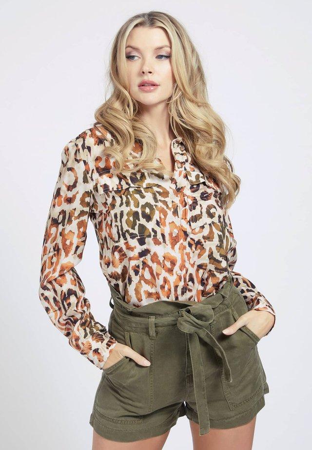 MONA - Overhemdblouse - mehrfarbig braun