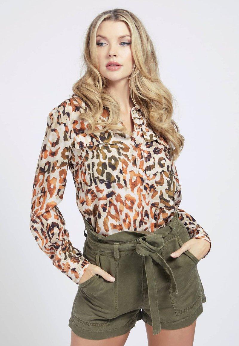Guess - MONA - Button-down blouse - mehrfarbig braun