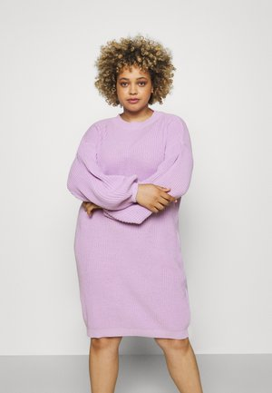 EXCLUSIVE DRESS  - Pletené šaty - lilac