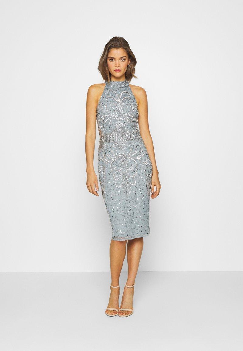 Sista Glam - GLOSSIE - Cocktailklänning - blue grey