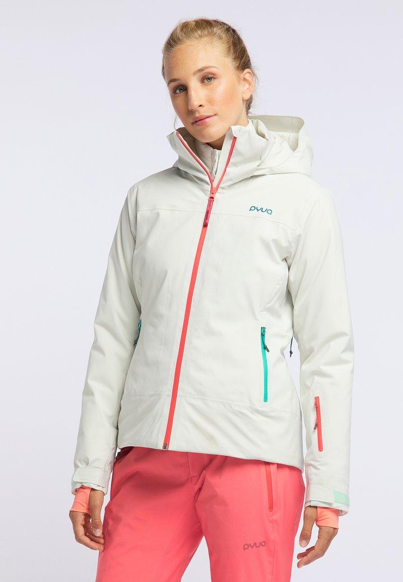 PYUA - BLISTER - Snowboardjacke - foggy white