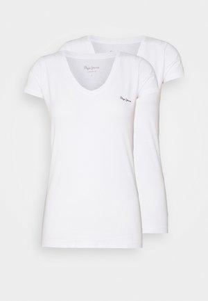 BEA 2 PACK - Jednoduché triko - white