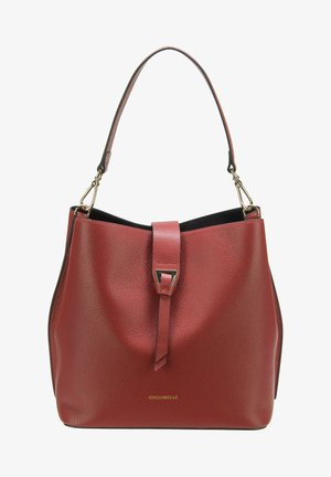 ALBA BUCKET SHOULDER - Handbag - foliage red