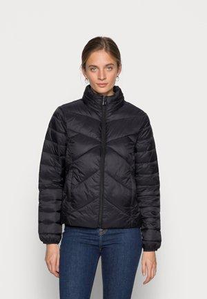 HIGH NECK JACKET - Light jacket - black
