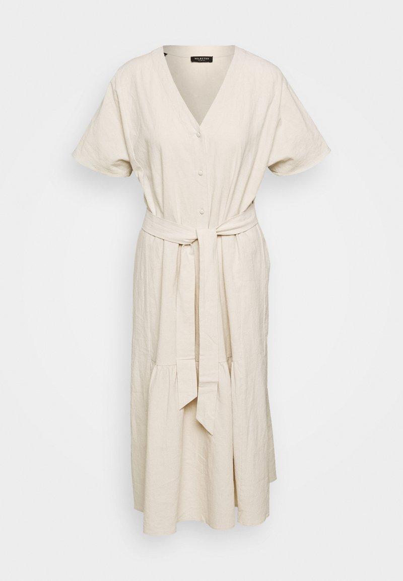 Selected Femme - SLFMIONI MIDI DRESS - Korte jurk - sandshell