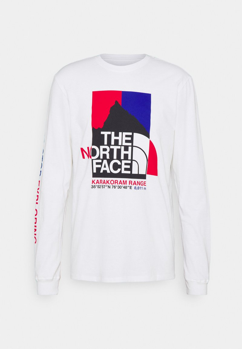 The North Face - KARAKORAM GRAPHIC TEE - Top sdlouhým rukávem - white