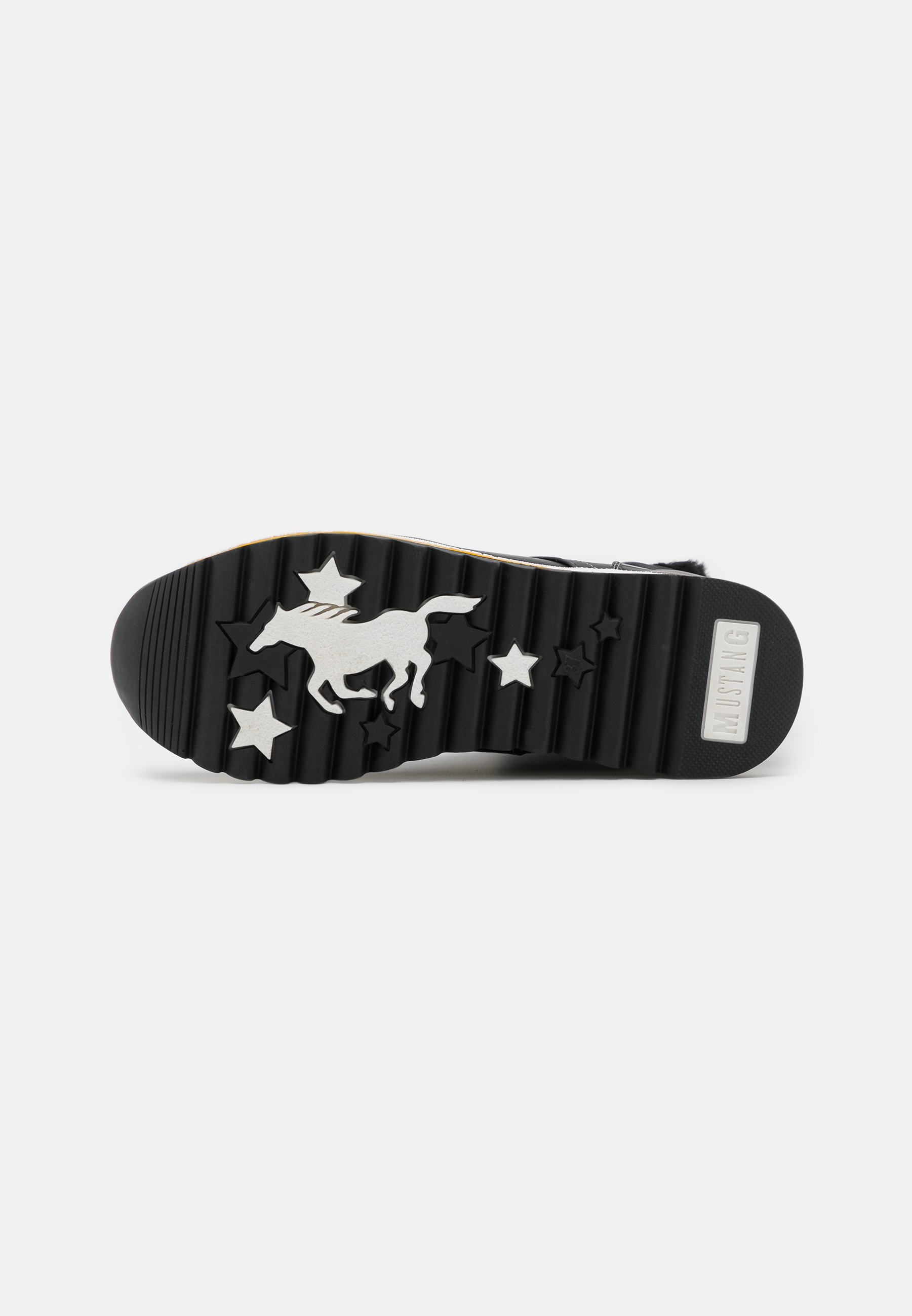 Mustang Plateaustiefelette schwarz/gelb/schwarz