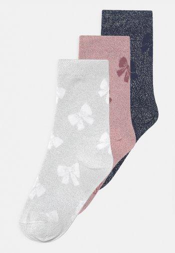 SCHLEIFEN 3 PACK - Socks - navy/grey/rose