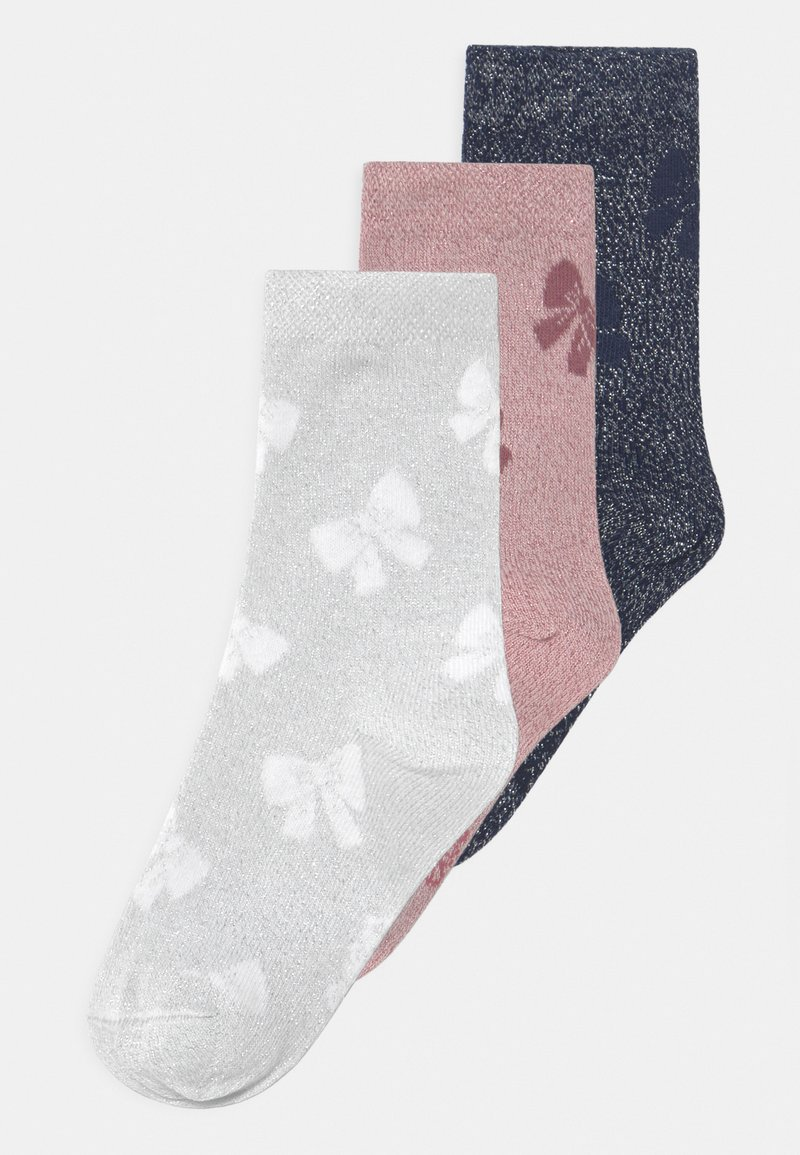 Ewers - SCHLEIFEN 3 PACK - Socks - navy/grey/rose