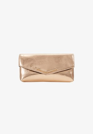 STITCHED BAR - Clutch - rose gold
