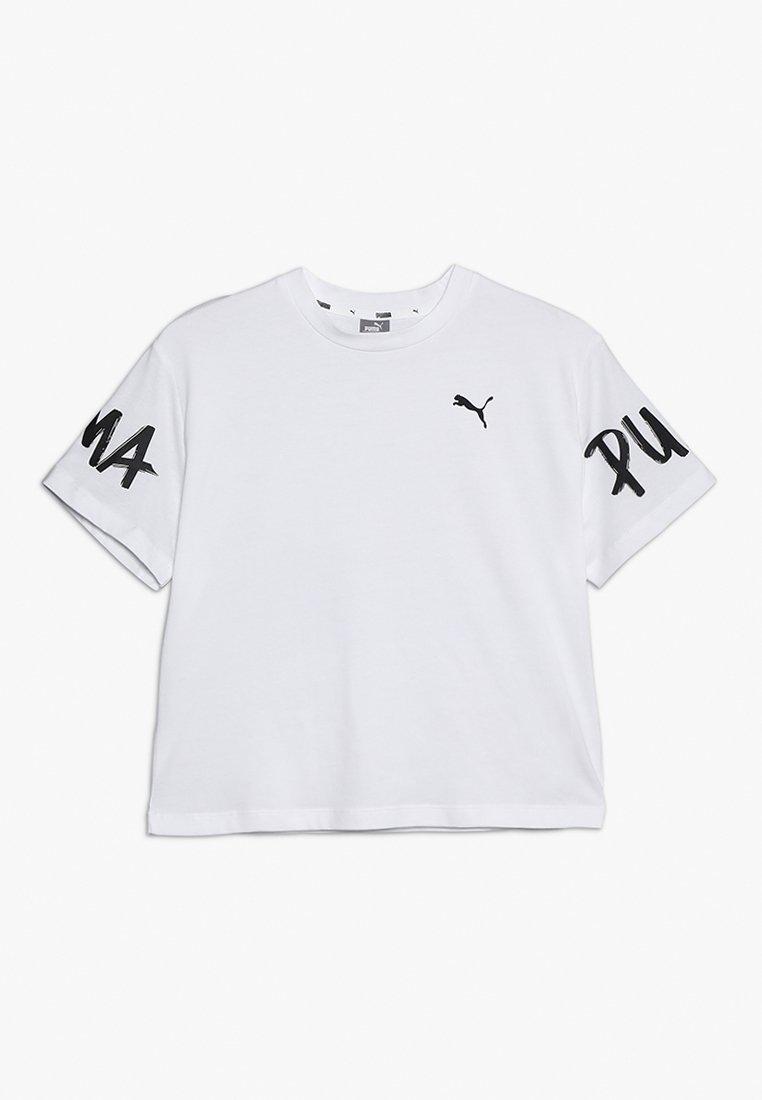 Puma - ALPHA TEE - Print T-shirt - white