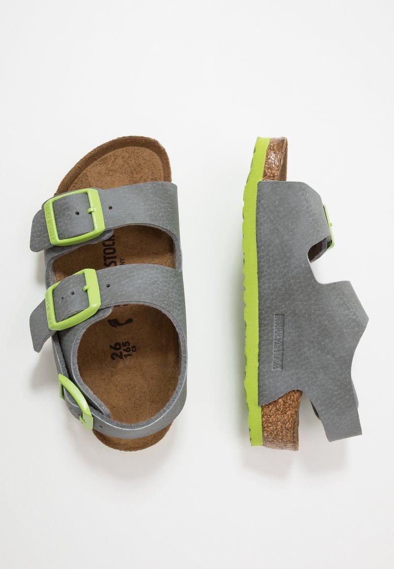 Birkenstock - MILANO - Sandals - grey/green