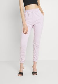 Missguided - BASIC JOGGERS 2 PACK - Tracksuit bottoms - lilac/light grey - 3
