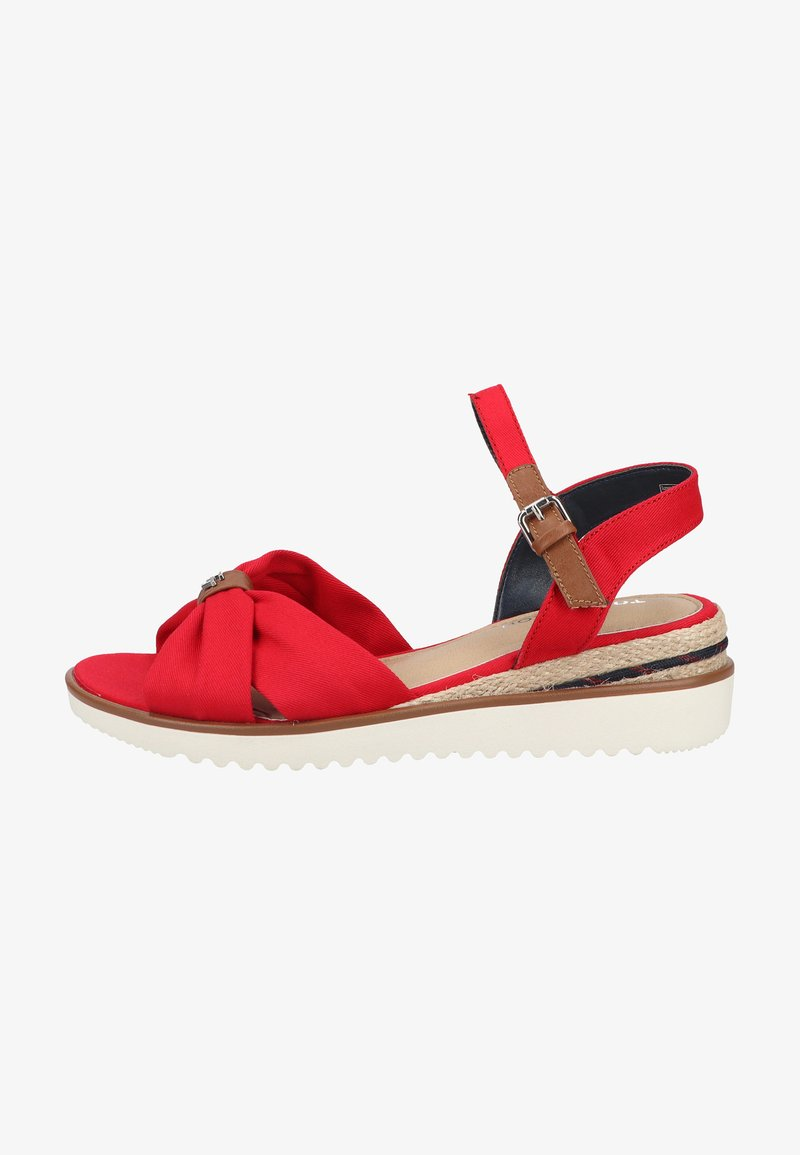 TOM TAILOR - Wedge sandals - red