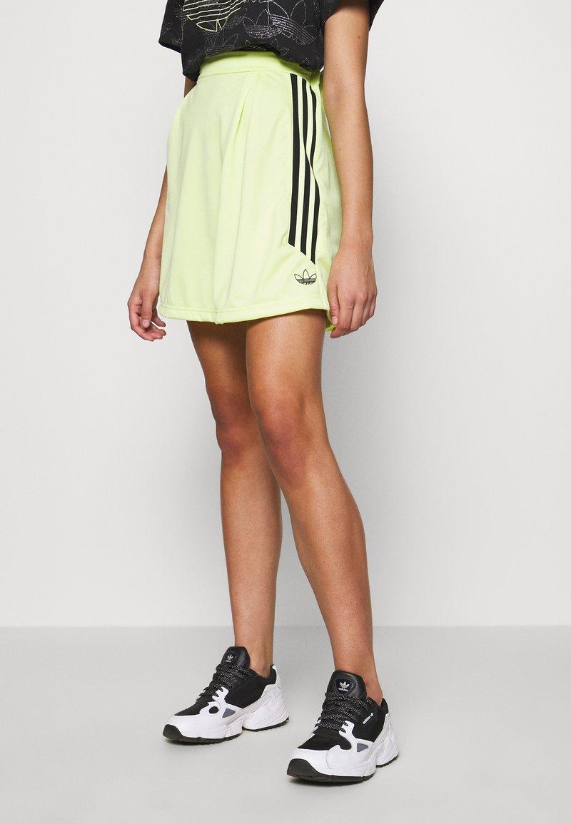 adidas Originals - A-line skirt - semi frozen yellow