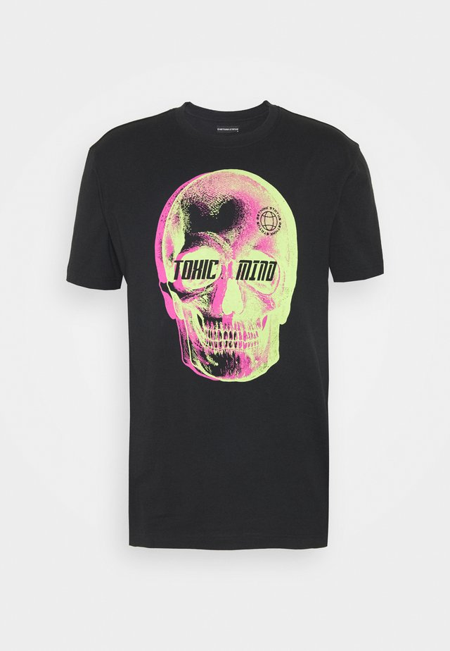 REGULAR FIT UNISEX - T-shirt print - black