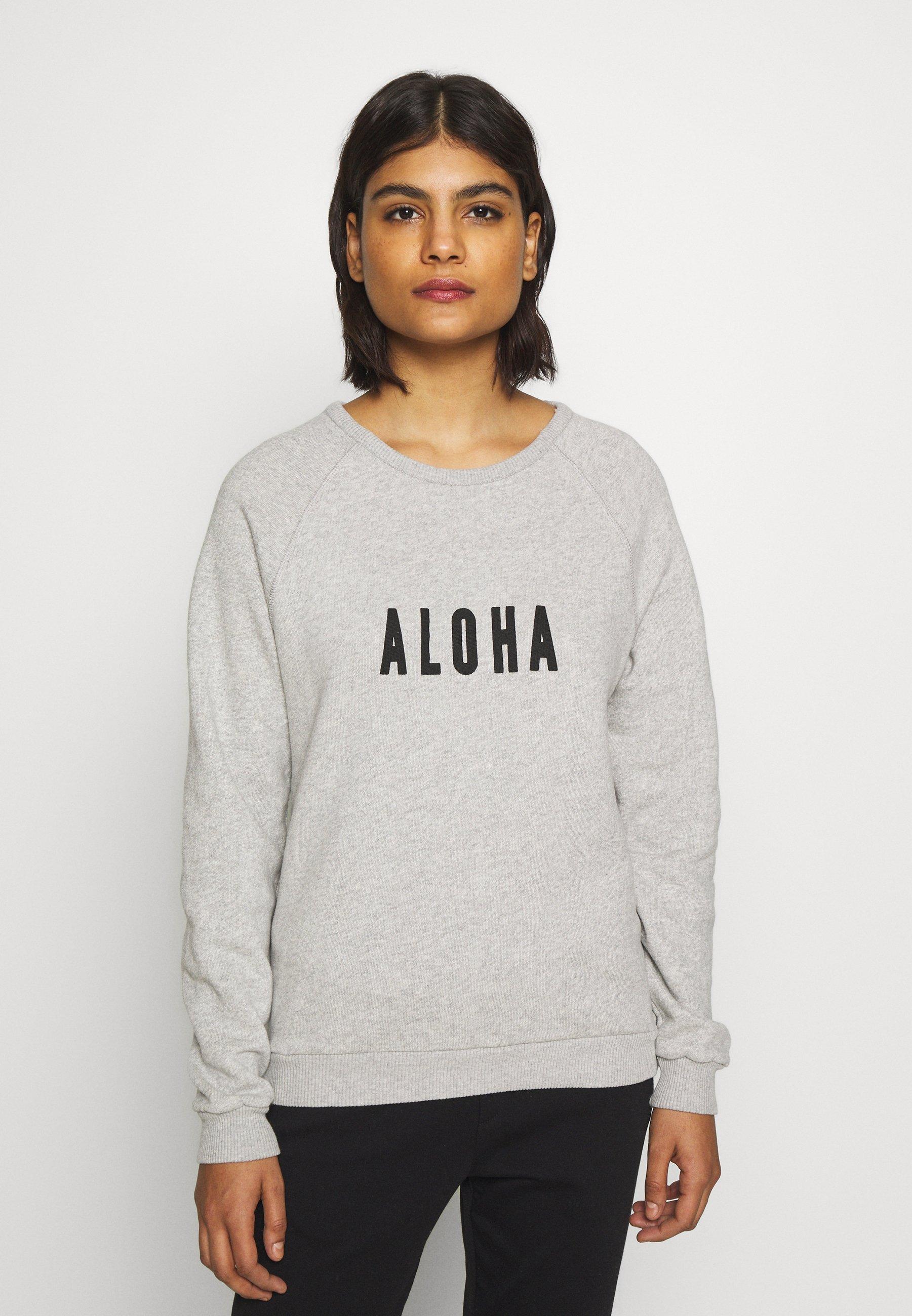 10DAYS ALOHA Sweater light grey meleeGrijs Zalando.nl