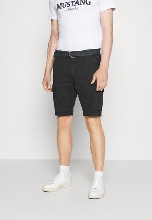 WITH BELT - Shorts - black