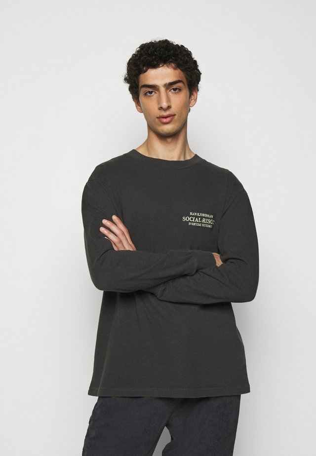 BOXY TEE LONG SLEEVE - Longsleeve - faded black