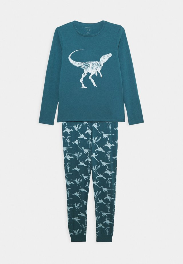 NKMNIGHTSET DINO - Pyjamaser - real teal