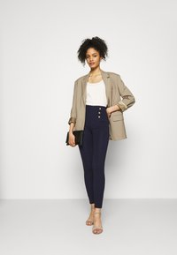 Anna Field - Punto leggings with button detail - Leggings - dark blue - 1