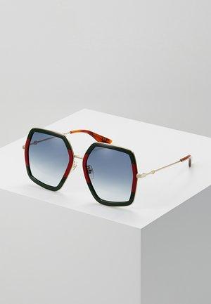 Sunglasses - green/red