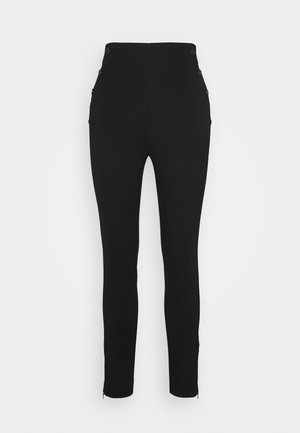 ULTRA CURVE HIGH BUTTON - Pantaloni - jet black