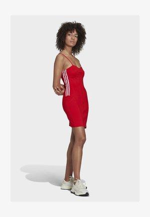 Jersey dress - vivid red